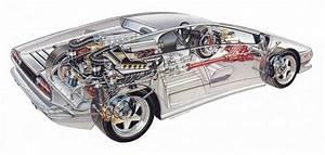 Lamborghini Diablo 1989 Cars Technical Cutaway Wallpaper