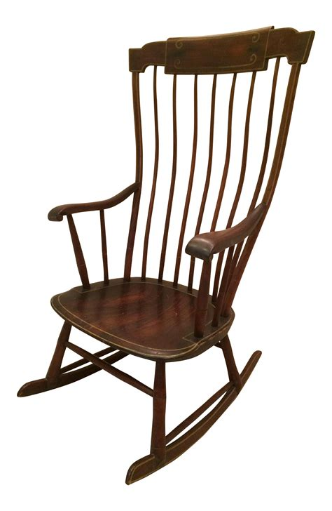 Restoration Hardware For Period Antique Furniture Antique Federal Period Boston Windsor Rocking Chair Chairish