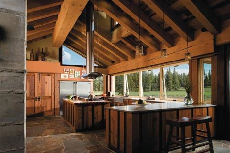 wood vent hood Kitchen Transitional with apron sink aqua