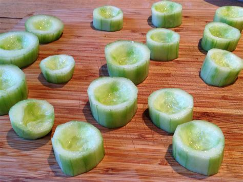 fruit canapes cucumber cups canapés yes