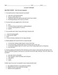 Ans Science Lab Safety Rules Worksheet