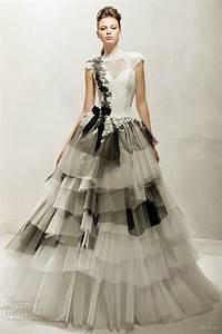 Girls get hot papilio wedding dresses 2012 for Black white wedding dresses