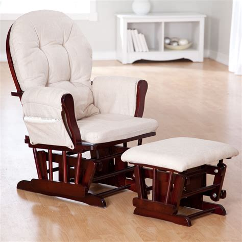 rocker glider recliner with ottoman baby nursery decor chocolate baby nursery glider rocker