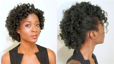 Curly Mohawk/ Frohawk On Natural Hair & Spoolies Giveaway