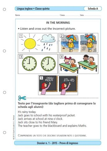 Prove D Ingresso Inglese Prima Media by Prove D Ingresso Lingua Inglese Classe 5 La Vita