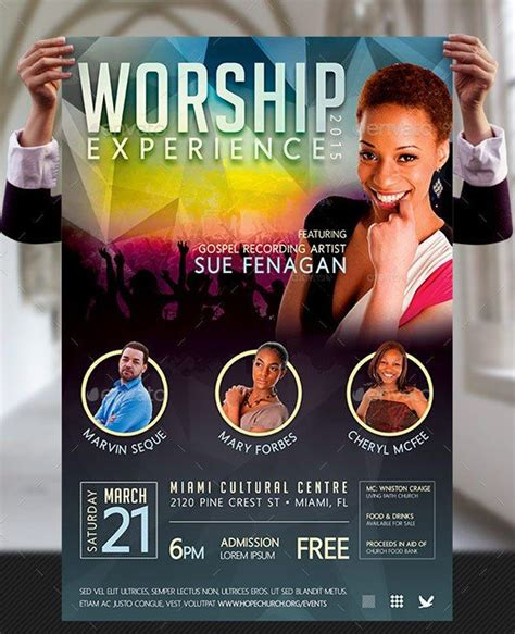 concert banner template psd free worship concert poster templates photoshop sinage and