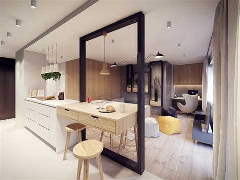A 60s Inspired Apartment With A Creative Layout And Upbeat Vibe by Creative Room Division Interior Design Ideas
