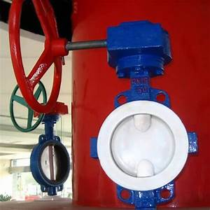 Wafer Type Full Fpa   F46   Ptfe Lined Butterfly Valve
