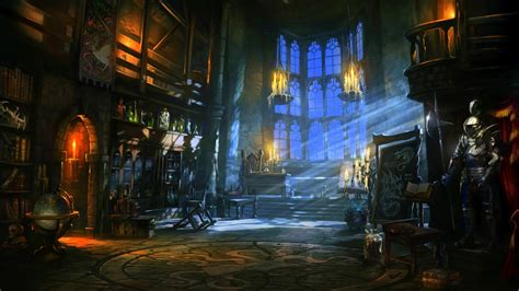 fantasy castle room dark wallpapers hd desktop