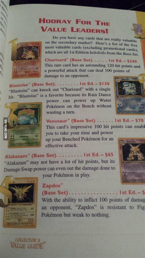 Pokemon trading cards have exploded in value in 2020. Pokemon card values in 1996 - 9GAG