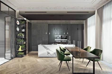 marble  wood  perfect kitchen design