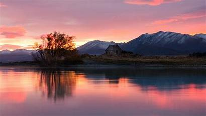 Zealand Nature Landscapes Calm Lakes Reflections Wallpapers