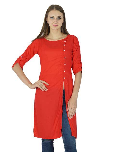designer tops for womens designer indian kurta cotton solid kurti