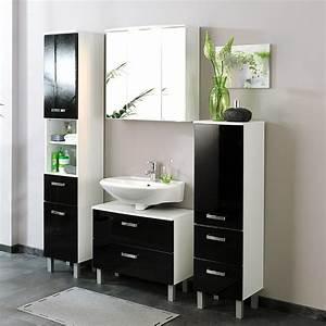 Ebay Badmöbel Hochglanz : badezimmer hochschrank hochglanz schwarz wei wandschrank ~ Watch28wear.com Haus und Dekorationen