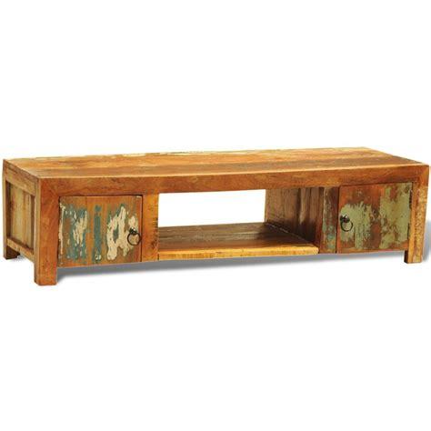 armadietto legno armadietto in legno anticato per tv con 2 porte stile