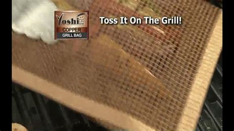 yoshi copper grill bag tv commercial grilling