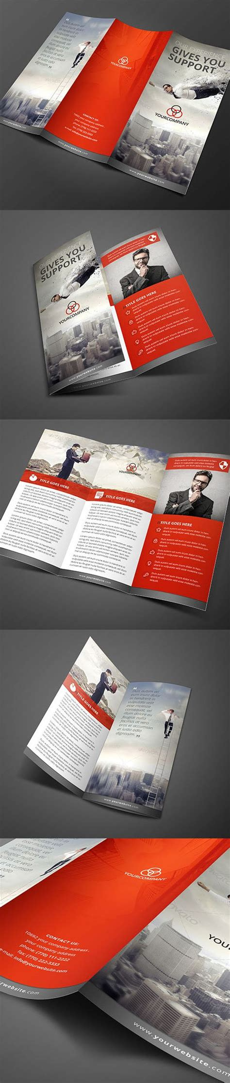 4 Page Brochure Template Free Best Clean Corporate Tri 25 Best Ideas About 3 Fold Brochure On Tri