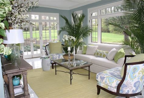 colorsforsunrooms soft blue sunroom  wall paint