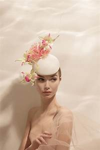 philip treacy orchid beret ivory and berets