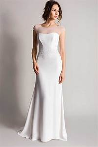 sleek and minimalist wedding dresses for modern brides With minimalist wedding dress