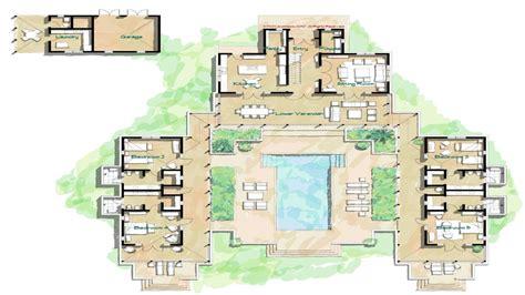 hacienda style home floor plans spanish style homes  courtyards island home floor plans