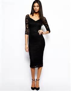 Black Lace Off Shoulder Dresses