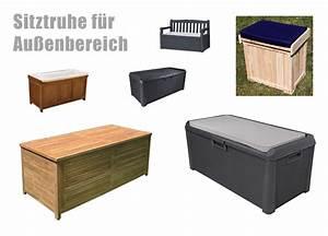 Kleine Holzbank Für Draußen : bequeme sitztruhe f r drau en ~ Bigdaddyawards.com Haus und Dekorationen