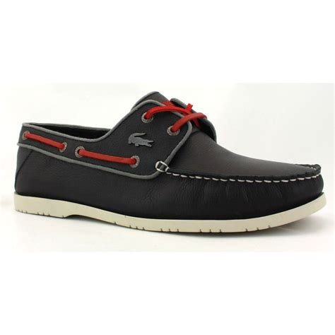 Boat Shoes Navy by Lacoste Arlez 3 Mens Leather Boat Shoes Navy Ebay