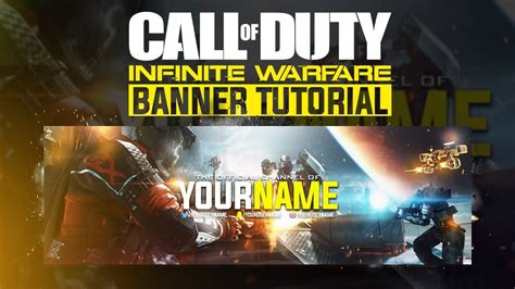 Banner Template Call Of Duty Infinite Warfare by Photoshop Tutorial Call Of Duty Infinite Warfare Banner