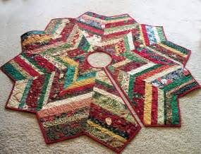 Country Christmas Tree Skirt Quilt