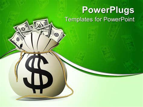 powerpoint template  bag full  money