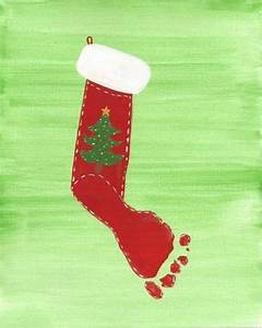 kids footprint ideas footprint christmas stocking