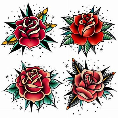 Tattoo Rose Clip Vector Roses Illustrations Royalty