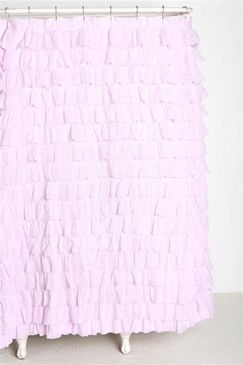 Pink Ruffle Curtains Outfitters by