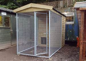 multi purpose sheds With steel dog kennels and runs