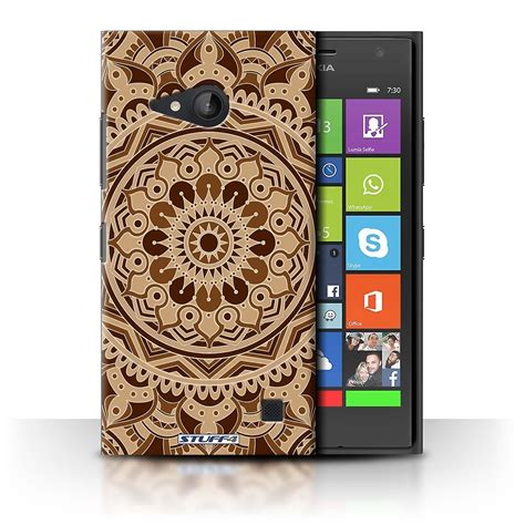 stuff4 cover for nokia lumia 730 sepia mandala fruugo