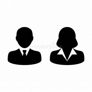 People Icon Vector Male And Female Person Profile Avatar ...