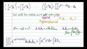 How To Derive The Volume Of An N