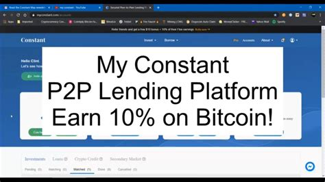 After creating a new loan offer, someone may take out that loan for the interest rates bitcoin lending bots use models to monitors the loans it created and measures market activity, which when combined with historical data (in some. Crypto: My Constant P2P Lending - Earn Bitcoin Interest - June 2020 - YouTube