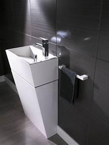 meuble suspendu salon design 14 pinterest toilette avec With salle de bain design avec meuble lave main