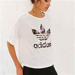 adidas Orchid Cropped Tee- White from Urban Outfitters