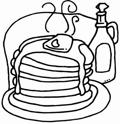 Pancake Drawing Coloring Pages Give Pig Getdrawings
