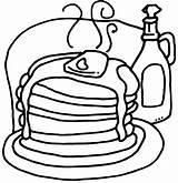 Coloring Pancakes Pages Pancake Kidprintables Return Main sketch template
