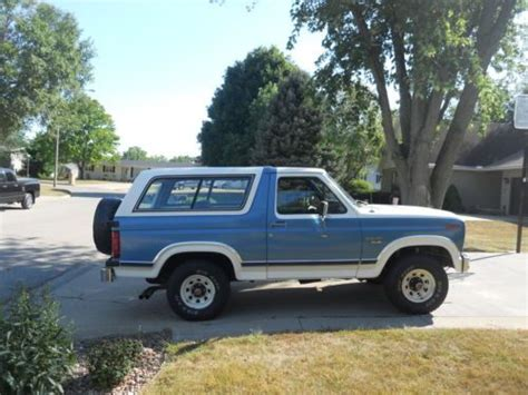 blue bronco car find used blue and white 1984 ford full size bronco xlt