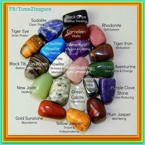 symbolism of rocks stones meanings chart do it daily