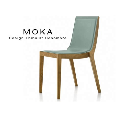 chaise en bois design chaises design bois moka assise et dossier garnis