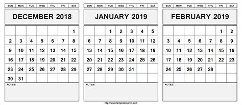 december  january  february  calendar