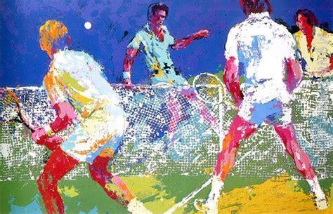 Leroy Neiman Men's Doubles Painting