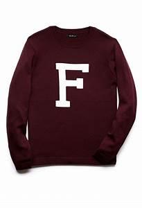 forever 21 varsity letter sweater in red for men lyst With varsity letter sweater