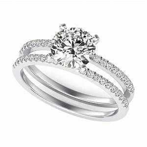New engagement rings double band for Double band diamond wedding ring